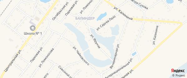 Улица Фрунзе на карте Заринска с номерами домов