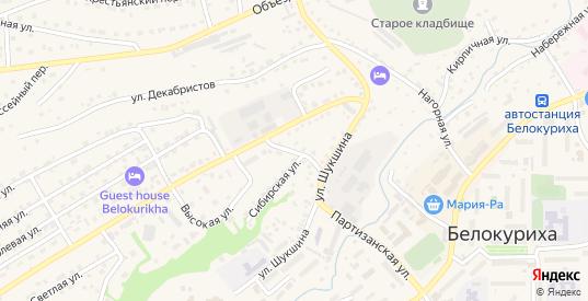 Улица Энергетиков в Белокурихе с номерами домов на карте. Спутник и схема онлайн