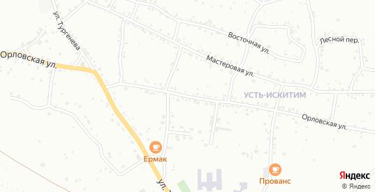 Орловская улица в Юрге с номерами домов на карте. Спутник и схема онлайн