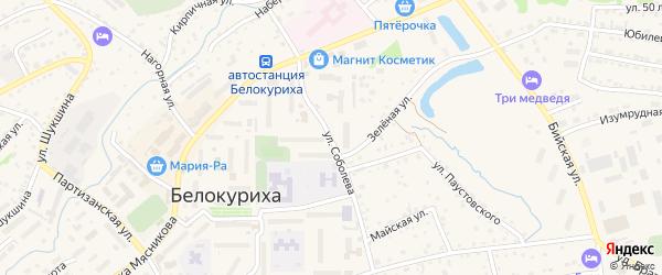 Улица Соболева на карте Белокурихи с номерами домов