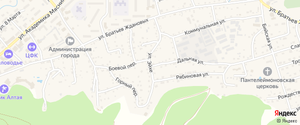 Улица Эйхе на карте Белокурихи с номерами домов