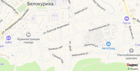 Южный переулок в Белокурихе с номерами домов на карте. Спутник и схема онлайн