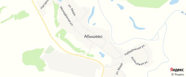 Карта села Абышево в Кемеровской области с улицами и номерами домов