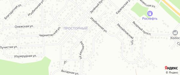 Полярная улица на карте Просторного поселка с номерами домов