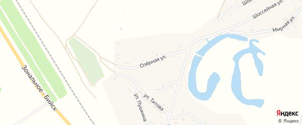 Озерная улица на карте села Новой Чемровки Алтайского края с номерами домов