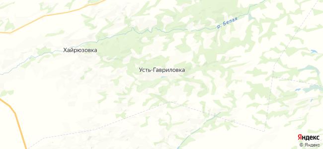 Усть-Гавриловка на карте