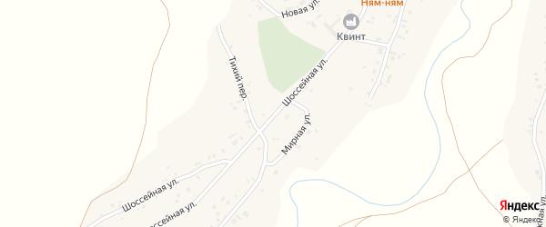 Шоссейная улица на карте села Новой Чемровки Алтайского края с номерами домов