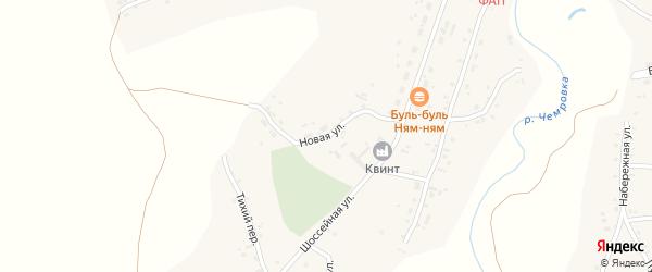 Новая улица на карте села Новой Чемровки Алтайского края с номерами домов