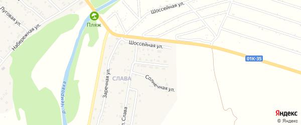 Центральная улица на карте территории сдт Мирного с номерами домов