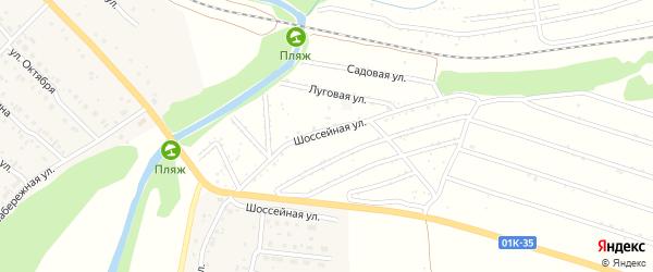 Вишневая улица на карте территории сдт Мирного с номерами домов