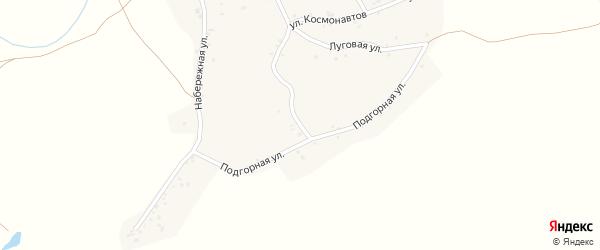Подгорная улица на карте села Новой Чемровки Алтайского края с номерами домов