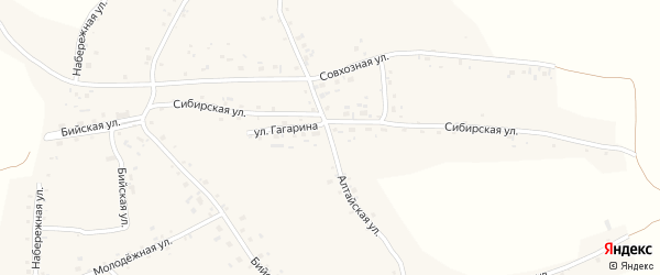 Алтайская улица на карте села Новой Чемровки с номерами домов
