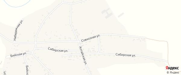 Совхозная улица на карте села Новой Чемровки с номерами домов