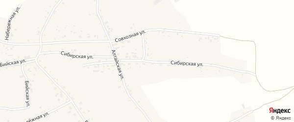 Сибирская улица на карте села Новой Чемровки Алтайского края с номерами домов