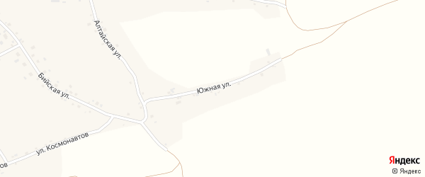 Южная улица на карте села Новой Чемровки с номерами домов