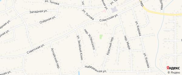 Переулок Успенского на карте Смоленского села с номерами домов
