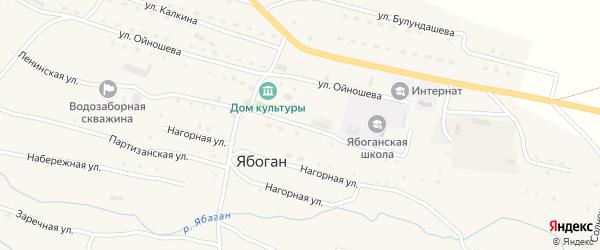 Ленинская улица на карте села Ябогана Алтая с номерами домов
