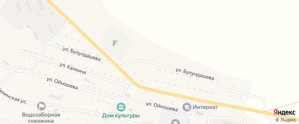 Улица Булундашева на карте села Ябогана Алтая с номерами домов
