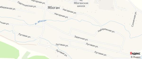 Набережная улица на карте села Ябогана Алтая с номерами домов