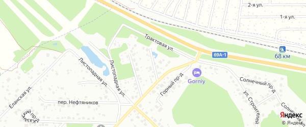 Проезд Геологов на карте поселка Апреля с номерами домов