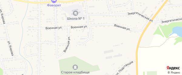 Военная улица на карте Смоленского села с номерами домов