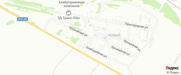 Урожайная улица на карте садового некоммерческого товарищества Просвещенца с номерами домов