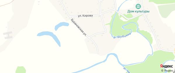 Бурановская улица на карте села Шубенки с номерами домов