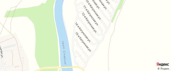 14-я Катунская улица на карте садового некоммерческого товарищества Катунские зори с номерами домов