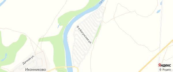 Карта садового некоммерческого товарищества Катунские зори в Алтайском крае с улицами и номерами домов