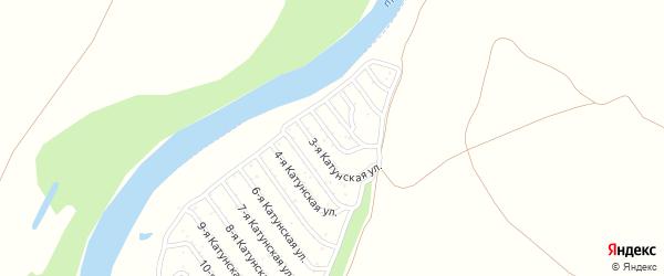 20-я Катунская улица на карте садового некоммерческого товарищества Катунские зори с номерами домов