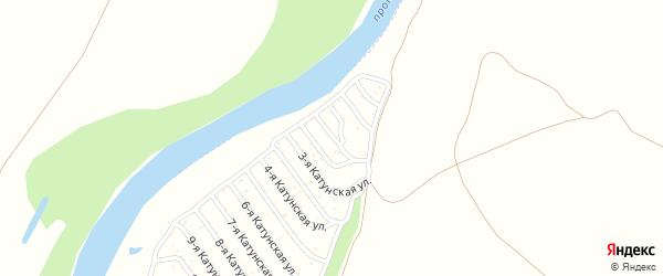 2-я Катунская улица на карте садового некоммерческого товарищества Катунские зори с номерами домов