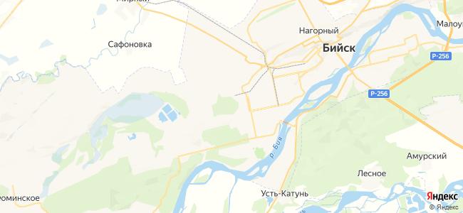 Бийск на карте