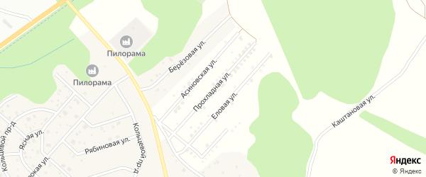Прохладная улица на карте территории Лесной массива Томской области с номерами домов