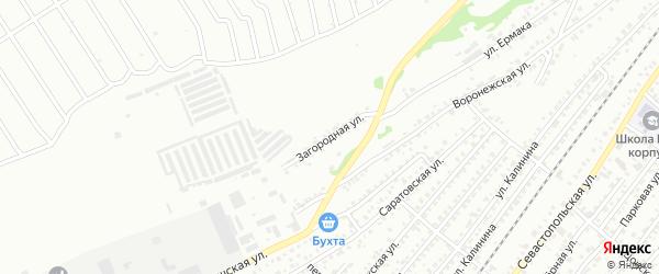 Загородная улица на карте Бийска с номерами домов