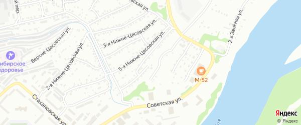7-я Нижне-Цесовская улица на карте Бийска с номерами домов