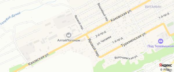 Яровой переулок на карте Бийска с номерами домов
