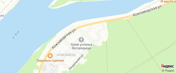 Цветочный переулок на карте Бийска с номерами домов