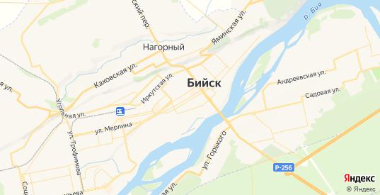 Карта Бийска с улицами и домами подробная. Показать со спутника номера домов онлайн