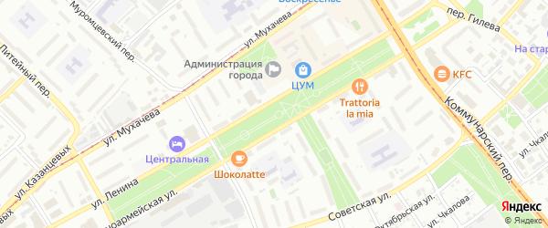 Улица Якова Сахарова на карте Бийска с номерами домов