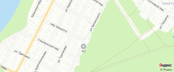 Улица Виссариона Белинского на карте Бийска с номерами домов