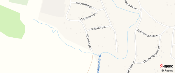 Южная улица на карте села Дмитро-Титово с номерами домов