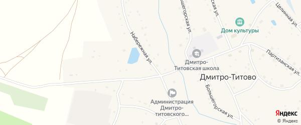 Набережная улица на карте села Дмитро-Титово с номерами домов
