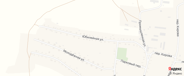 Юбилейная улица на карте села Россоши с номерами домов