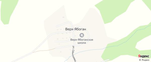 Заречная улица на карте села Верха-Ябогана Алтая с номерами домов