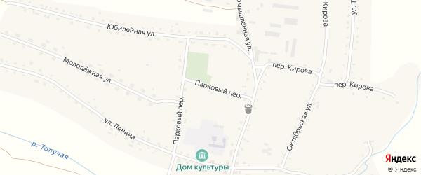 Парковый переулок на карте села Россоши с номерами домов