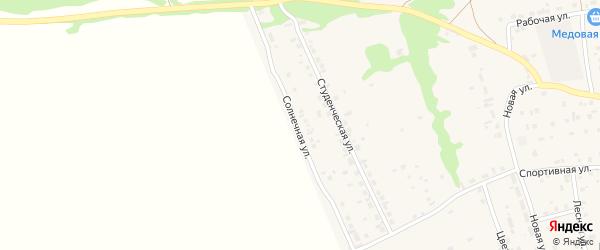 Солнечная улица на карте Первомайского села Алтайского края с номерами домов