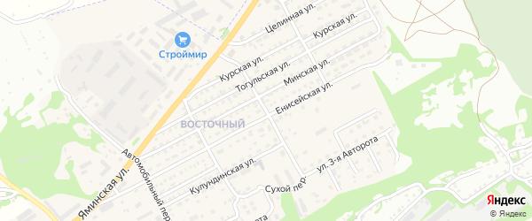 Сухой переулок на карте Бийска с номерами домов