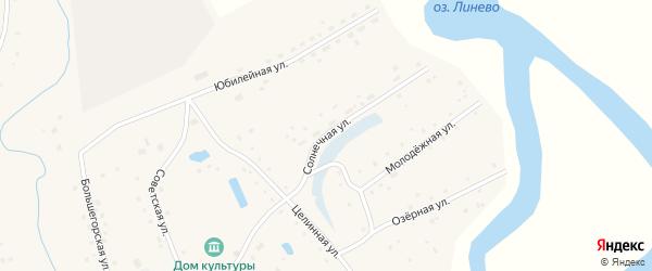 Солнечная улица на карте села Дмитро-Титово Алтайского края с номерами домов