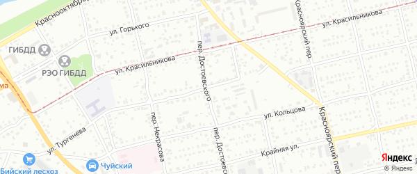 Улица Ивана Тургенева на карте Бийска с номерами домов