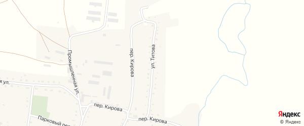 Улица Титова на карте села Россоши с номерами домов